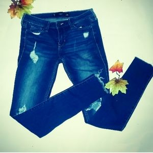 Hollister size 0 crop w24 blue jeans